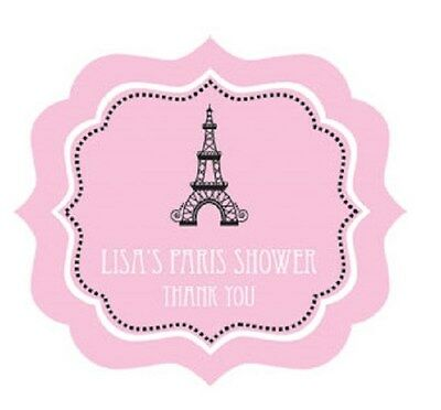 Parisian Themed Bridal Shower (24 Parisian Paris Theme Personalized Framed Bridal Shower Wedding Favor)