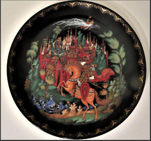 "Great gift 7.5"" Russian Fairy Tale Collector Tianex Plate $15"
