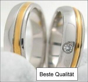 Trauringe, Eheringe, Partnerringe, Verlobungsringe, Edelstahl, MW04 - 1 Paar