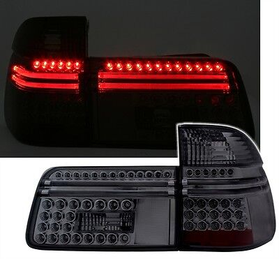 ALL SMOKED BLACK LED REAR LIGHTS LAMPS FOR THE BMW E39 5 SERIES ESTATE TOURING 3