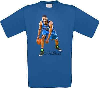 Russell Westbrook Oklahoma City Basketball T-Shirt alle Größen NEU