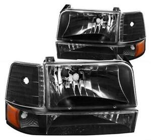 DNA MOTORING HL-OH-F15092-6P-BK-AM HEADLIGHT ASSEMBLY