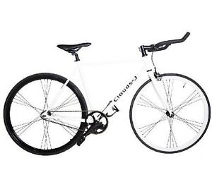 NEW CLOUDS-J FIXED GEAR MEN'S BIKE - 114974019 - PREMIUM FIXIE LIGHT WEIGHT 700C WHEEL BICYCLE WHITE