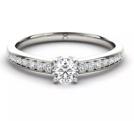 'The Diamond Story' 18ct White Gold 1/3 Carat Diamond Ring Size I