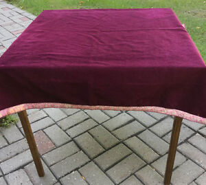 COVER  for Bridge/Card Table  Burgundy  Corduroy ----H8Z1W9---