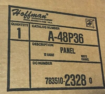 Hoffman A48p36 Large Electrical Enclosure Box Panel 48x36 White Steel
