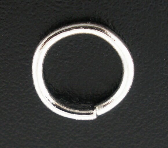 Mm Thick Silver Plated Jump Rings