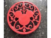 Officially Disney Disneyland Paris Hot Plate Kitchen Homeware Ceramic NEW