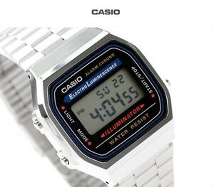 New-Casio-A168WA-1A-Vintage-Retro-Silver-Digital-Illuminator-Watch-A168-A168WG