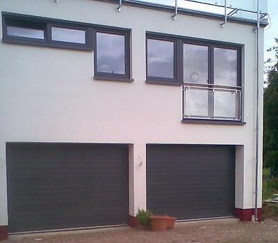 Garagentor Sektionaltor  S - Sicke Stucco 3500 x 2125mm RAL 7016