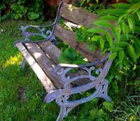 Cast Iron Bench - PICK UP PENDING