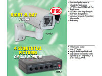IP66 external Day & night vision colour CCTV system, internal camera, switcher, cables, power pack.