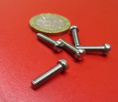 Fillister Head Stainless Steel Slotted Machine Screw 5-40 x 1/2