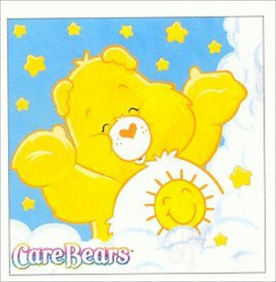 Care Bear Party Supplies (CARE BEARS Funshine SMALL NAPKINS (16) ~ Birthday Party Supplies Serviettes Blue)