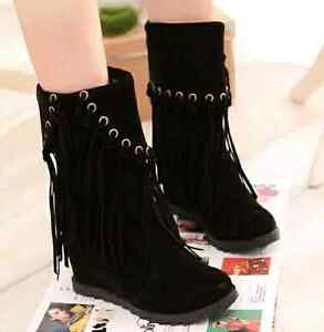 New Winter wedge shoes boots Size 6/ 6.5