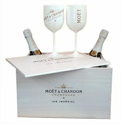 Moet Chandon Ice Imperial Champagne Glasses 2017 Goblets 6 Pack Double Sided NEW