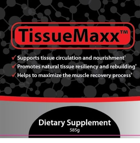 Tissue Maxx muscle and skin recovery supports tissue repair & wound healing