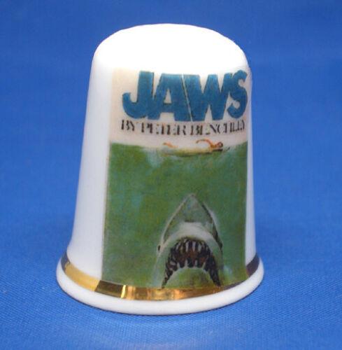 Birchcroft Thimble  -- Jaws Movie Poster --   Free Dome Box