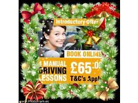 """FIRST 4 Manual DRIVING LESSONS ONLY £65.00""The Premier Driving School IN EAST LONDON"""