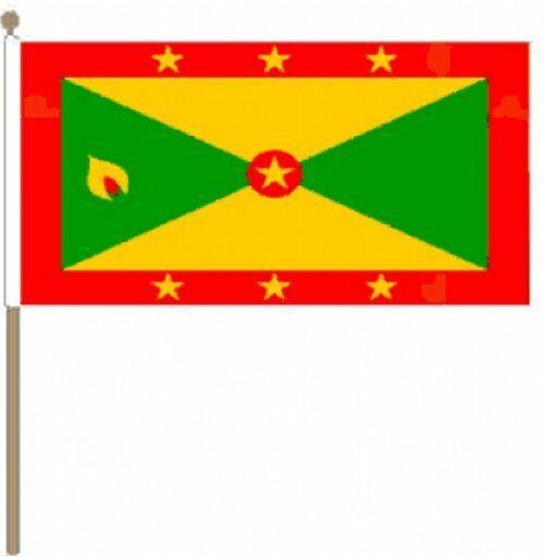 "Hand Waving Flag Jamaica 9/"" x 6/"""