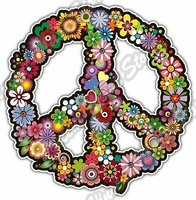 Peace Sign Hippie Abstract Ornament Colorful Car Bumper Vinyl Sticker Decal - Peace Sign Ornaments