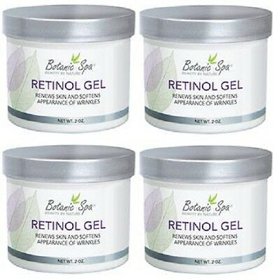 RETINOL GEL SMOOTHER, YOUNGER LOOKING, RENEW SKIN CELLS, 8 OZ - 4 BOTTLES
