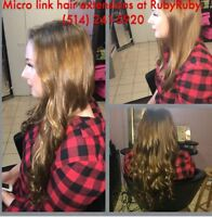 Micro link hair extensions/ cold fusion