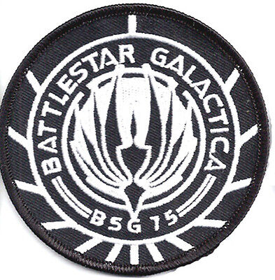 "Battlestar Galactica BSG-75 B&W 3.75"" Embroid Uniform/Costume Patch(BGPA-13-BW)"