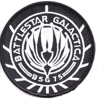 Battlestar Galactica BSG-75 B&w 9.5cm Stickerei Uniform / Kostüm Aufnäher (BGPA