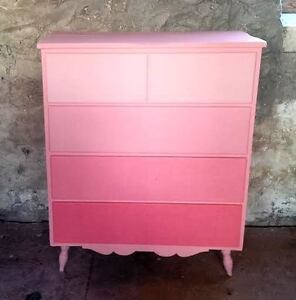 Pink Ombre Dresser.. (Fixer upper) Kawartha Lakes Peterborough Area image 1