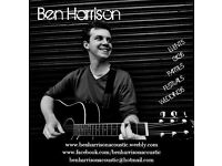 Excellent Singer/Acoustic Guitarist available