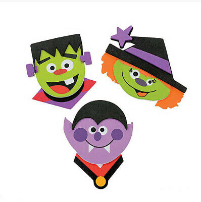 Halloween Character Magnetic Craft Kit for Kids No Glue Self-Adhesive ABCraft