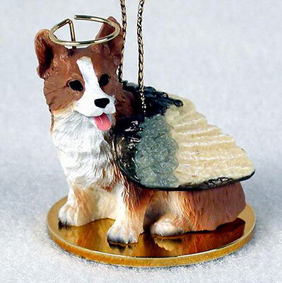 WELSH CORGI PEMBROKE ANGEL DOG CHRISTMAS ORNAMENT HOLIDAY Figurine Memorial