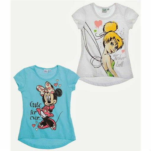 Lot de 2 t-shirts LA FEE CLOCHETTE et MINNIE