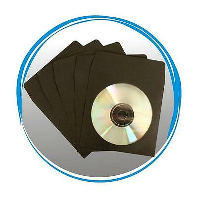2000 Black Cd Dvd R Paper Sleeve Envelope With Window & F...