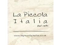 Experienced Waiter/ress Required for Well Established Italian Restaurant