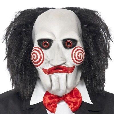 Halloween Kostüm Lizenziert Saw Jigsaw Maske mit Haar von Smiffys - Jigsaw Saw Kostüm