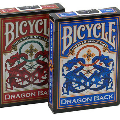 2 Decks Bicycle Dragon Back Red & Blue Standard Poker Playing Cards New Decks