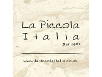 Kitchen Porters required for Independant Italian Restaurant
