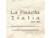 Experienced Pizzaiola Required for Busy Authentic Italian Restaurant
