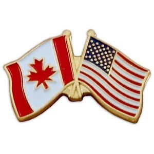 4 collectible Canadian & USA flag hat pins Kingston Kingston Area image 1