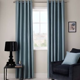 Duck Egg blackout Curtains 167w x 182 drop eyelet top