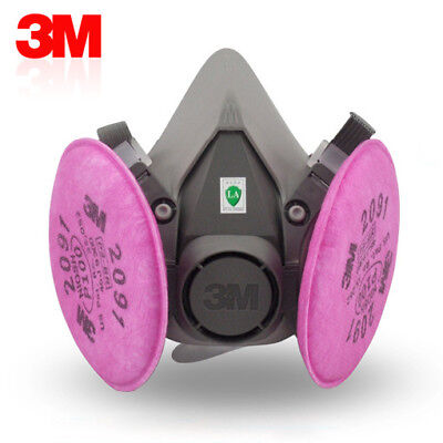 3m 6200 Spray Paintdust Mask Respirator3m 2091 P100 Filters Free Shipping