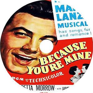 Because You're Mine DVD Mario Lanza Doretta Morrow 1952 Rare