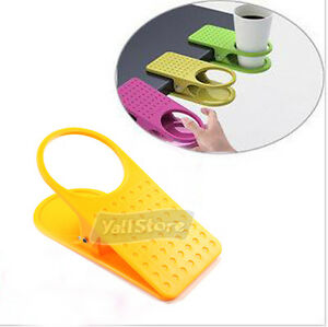 NW Yellow Lap Table Folder Reading Desk Cup Holder Clip