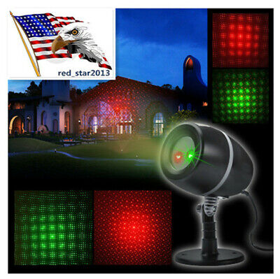 USA 180° Red/Green Moving Laser Star Light Home Projector Outdoor Lights Party ()