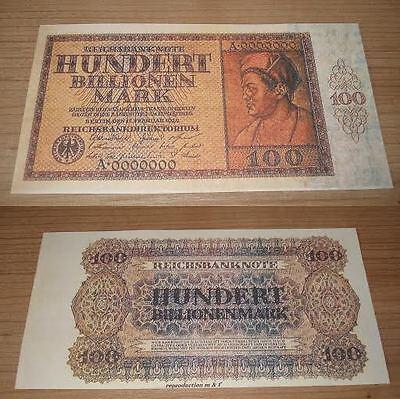Germany 100 billion Mark 1924 .  UNC - Reproductions