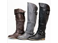 Job Lot Womens Knee High Boots Wholesale Clearance 14 Pairs