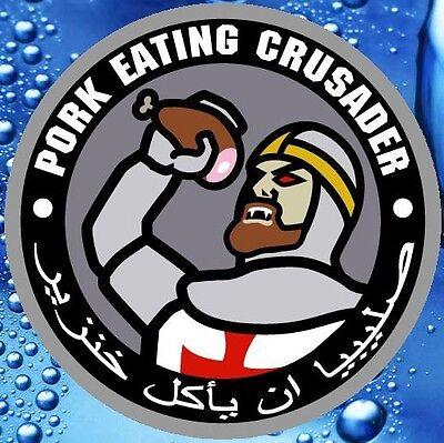 PORK EATING CRUSADER TACTICAL VINYL DECAL STICKER MILITARY CAR VEHICLE WINDOW
