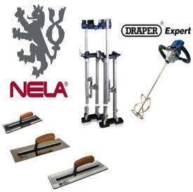 """NELA 14"""" TROWEL DEAL SUPERFLEX GOLD MKII PLASTICFLEX PREMIUM LARGE STILTS MIXING DRILL"""